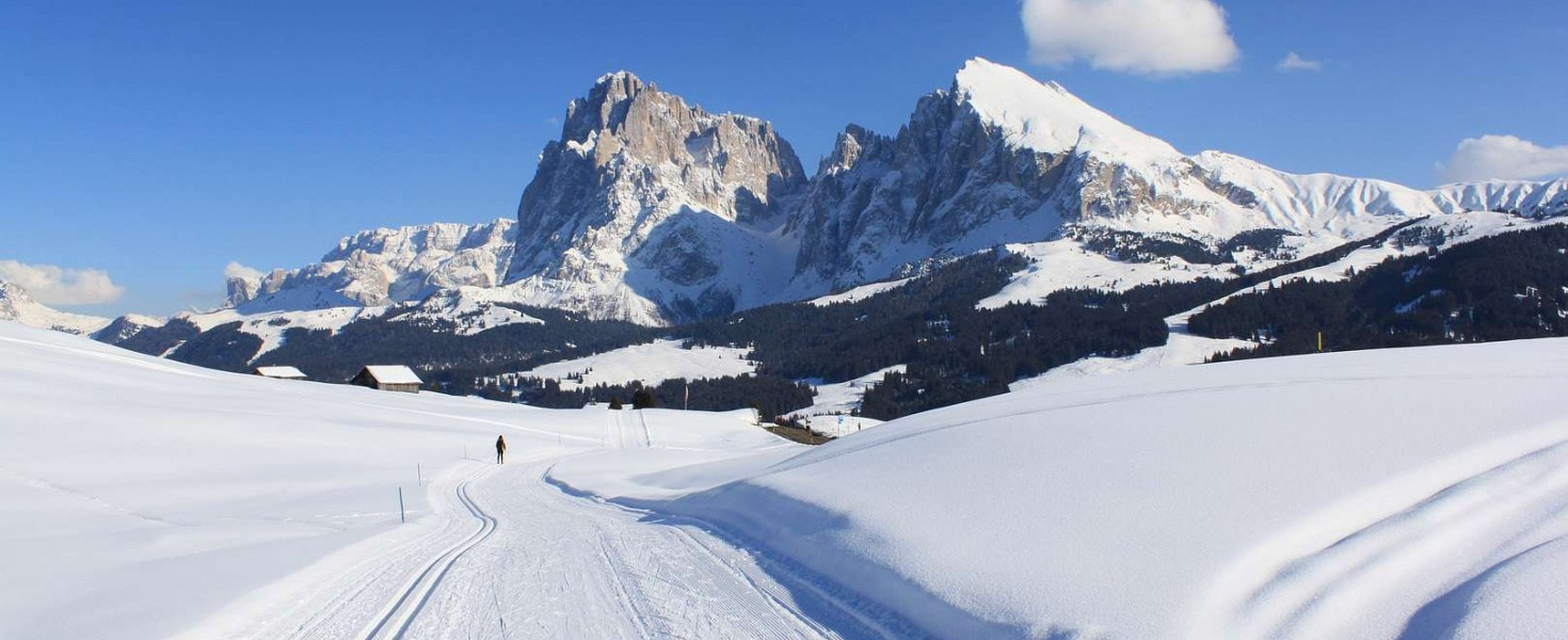Cross-country skiing in Val Gardena and Alpe di Siusi